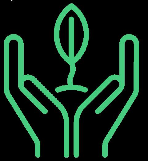 liść w dłoniach